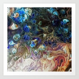 Currents 1 (Abstract Dachshund) Art Print