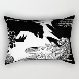 Godzilla Vs Shadow Godzilla Rectangular Pillow