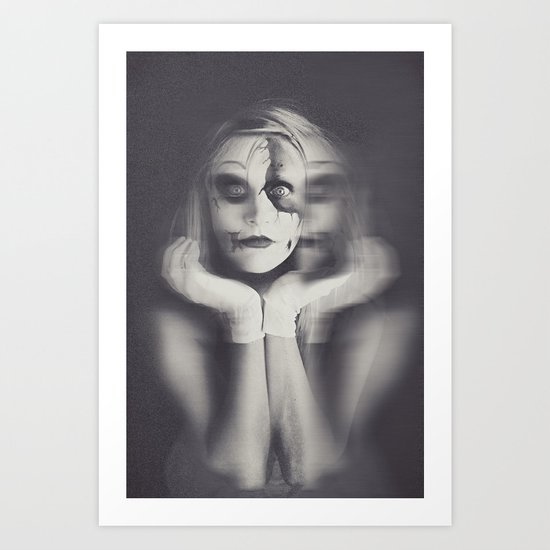 Pinocchio Cracked Art Print