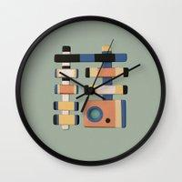 snake Wall Clocks featuring Snake by Rudolf Brancovsky