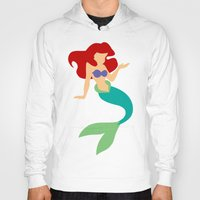 ariel Hoodies featuring Ariel by Dewdroplet