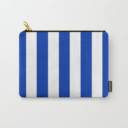 UA blue - solid color - white vertical lines pattern Carry-All Pouch