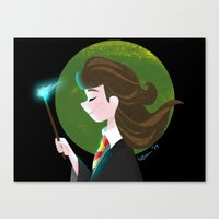 hermione Canvas Prints featuring Hermione  by Maha Khatib