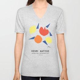 Henri Matisse Exposition Cover, 1956 Artwork Reproduction Unisex V-Neck