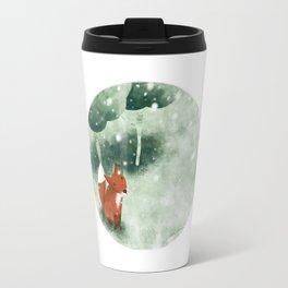 Fox in the snow Travel Mug