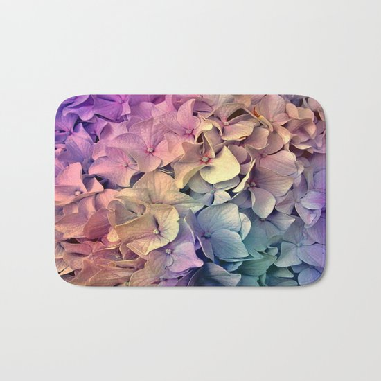 Soft Multi Color Hydrangea Bath Mat