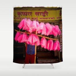 Candy floss, Kathmandu, Nepal Shower Curtain