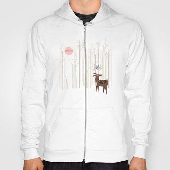 Reindeer of the Silver Wood Hoody