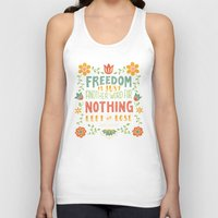 freedom Tank Tops featuring Freedom by Lydia Kuekes