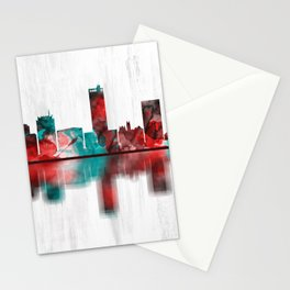 Amarillo Texas Skyline Stationery Cards