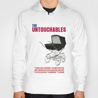 movie poster Hoodies featuring The Untouchables Movie Poster by FunnyFaceArt