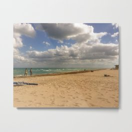 Puffy Clouds at Hollywood Beach Metal Print