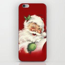 Vintage Santa iPhone Skin
