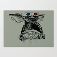 gremlins Canvas Prints featuring No Water After Midnight by Marina Luchetti