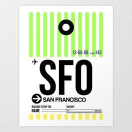 SFO San Francisco Luggage Tag 3 Art Print