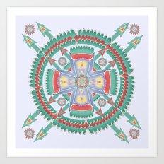Four Winds Mandala Art Print