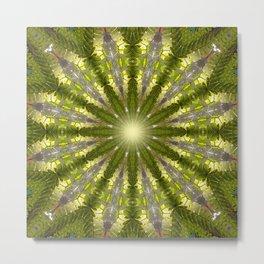Ancient Forest Mandala (green) Metal Print