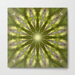 Ancient Forest Mandala (green) Metal Print