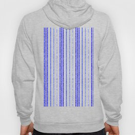 Thin Blue Speckled Vertical Line Pattern Hoody