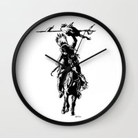 indian Wall Clocks featuring Indian by ARTito