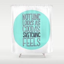 If Kate Moss Was An Artist   Shower Curtain