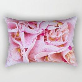 Strawberry Blonde Camellia Rectangular Pillow
