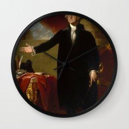 George Washington Painting Wall Clock