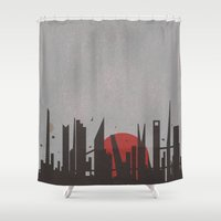 battlestar Shower Curtains featuring We'll always have Caprica City by Caio Vinicius