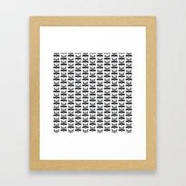 Teeny Tiny Coonie Pattern Framed Art Print