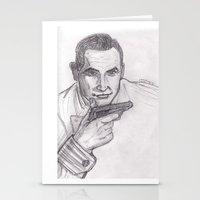 james bond Stationery Cards featuring James Bond by jamestomgray