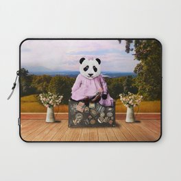 Baby Panda on Vacation Laptop Sleeve