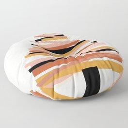Ribbon Christmas Tree - neutrals Floor Pillow