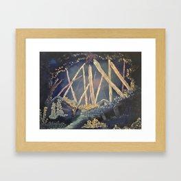 The Healing Crystal cave Framed Art Print