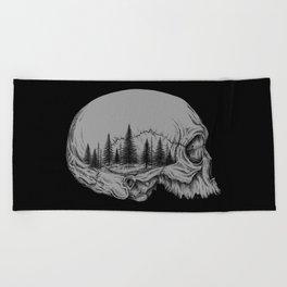 SKULL/FOREST II Beach Towel
