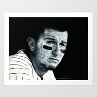 caleb troy Art Prints featuring Troy Tulowitzki  by emilypaints