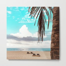 Dreaming on the Beach in Florida Metal Print