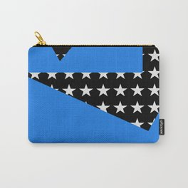 Paper Thin Stencil | Blue by Kimberly J Graphics Carry-All Pouch