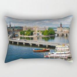 Riddarholmen Island Stockholm Sweden Cityscape Rectangular Pillow