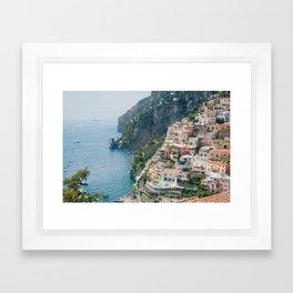 Italy. Amalfi Coastline Framed Art Print