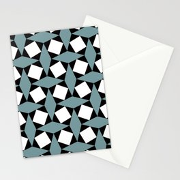 Geometric Pattern #188 (gray squares) Stationery Cards