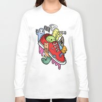 shoe Long Sleeve T-shirts featuring shoe pirates by ybalasiano