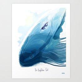 Kingfisher Girl Poster Art Print