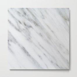 Carrara Italian Marble Metal Print