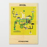brasil Canvas Prints featuring Brasil by federico babina