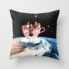 Storm in a Cup Throw Pillow