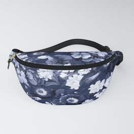 Bohemian Floral Nights in Navy Fanny Pack