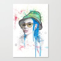fear and loathing Canvas Prints featuring Fear and Loathing by Becca Douglas