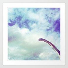 dino in the sky Art Print