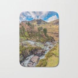 Snowdonia Landscape Winter Bath Mat