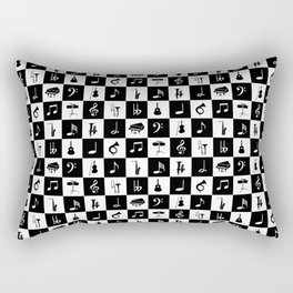 Contemporary Music themed checks Rectangular Pillow